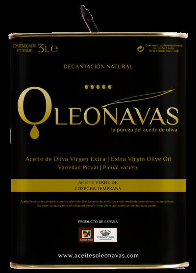 Lata de 3 L | Aceite de Oliva Virgen Extra | Cosecha temprana | Aceites OLEONAVAS