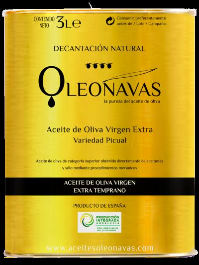 Caja de 3 latas de 3 L | Aceite de Oliva Virgen Extra TEMPRANO